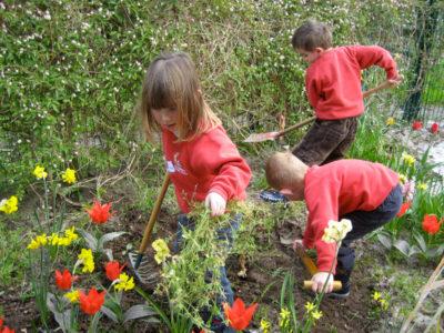 Entretien d'un jardin parles élèves