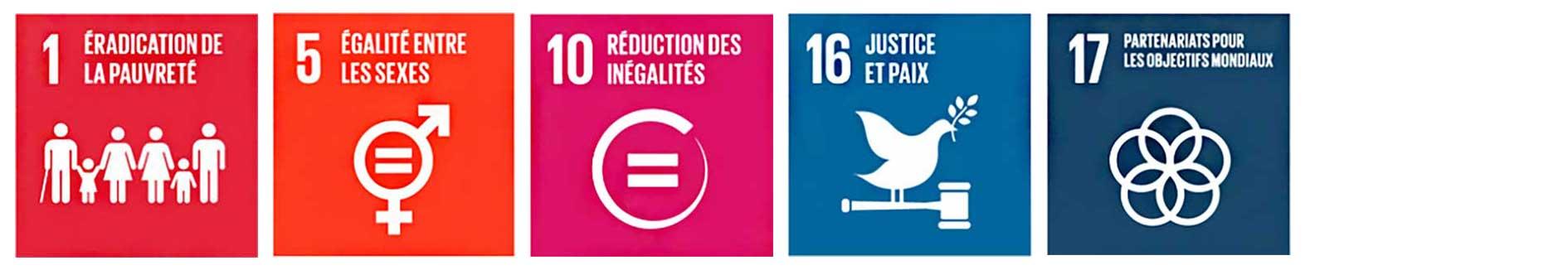 Objectifs de développement durable 2030 liés au thème citoyenneté