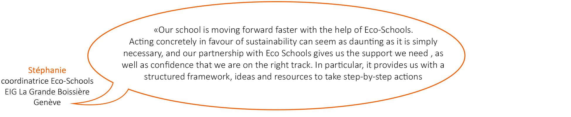 Témoignage à propos du programme Eco-Schools, Ecole internationale de Genève, La Grande Boissière